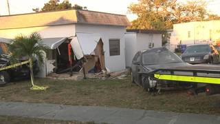 Car crashes into sleeping 5-year-old boy's bedroom in Hollywood