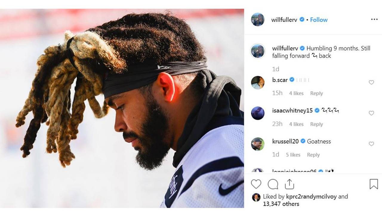 will Fuller instagram day 2 2019 training camp texans