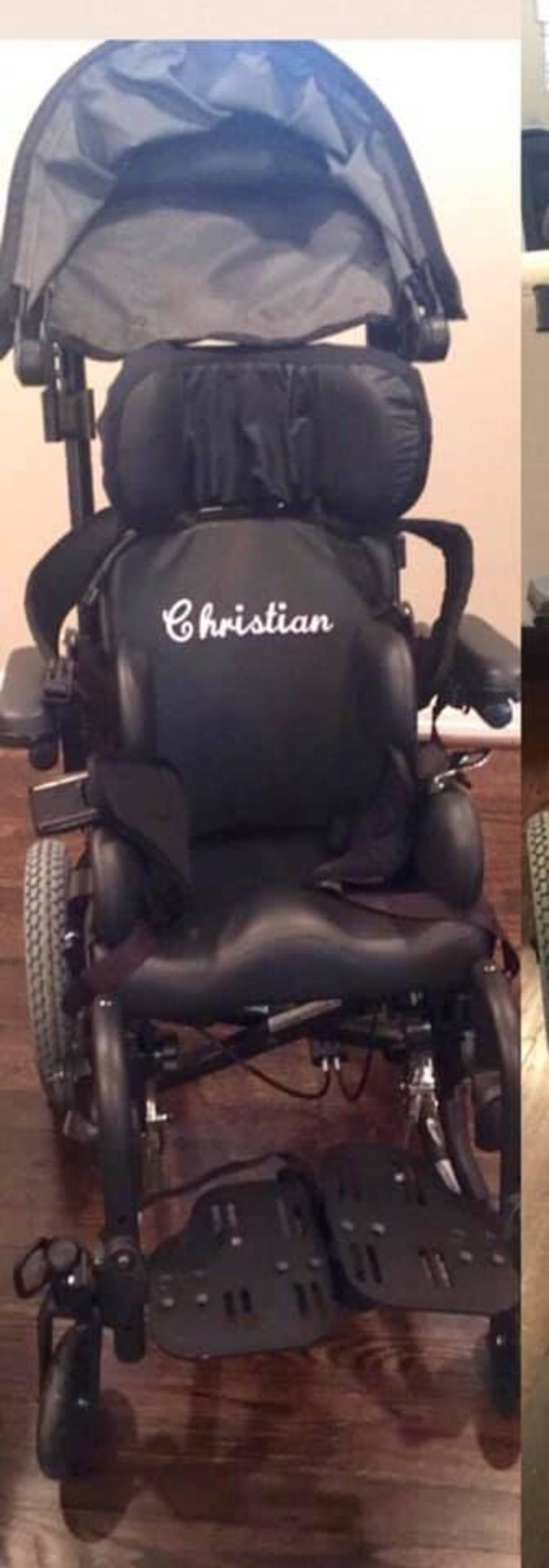 Wheelchair of Christian Gonzalez 6-25-2019