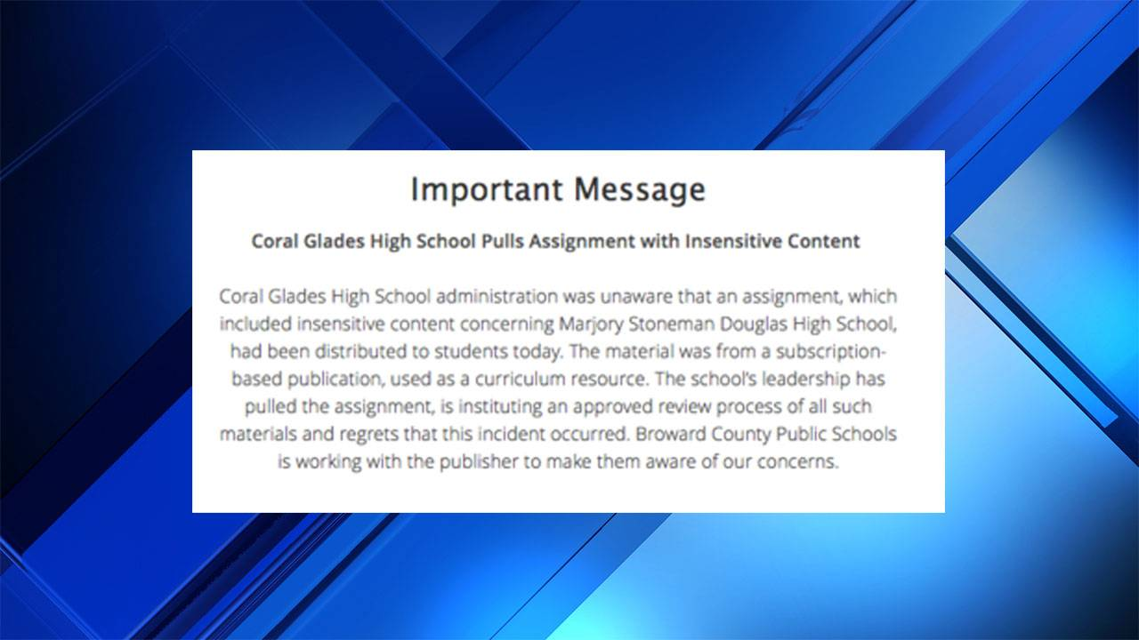 Broward County Public Schools Statement 12