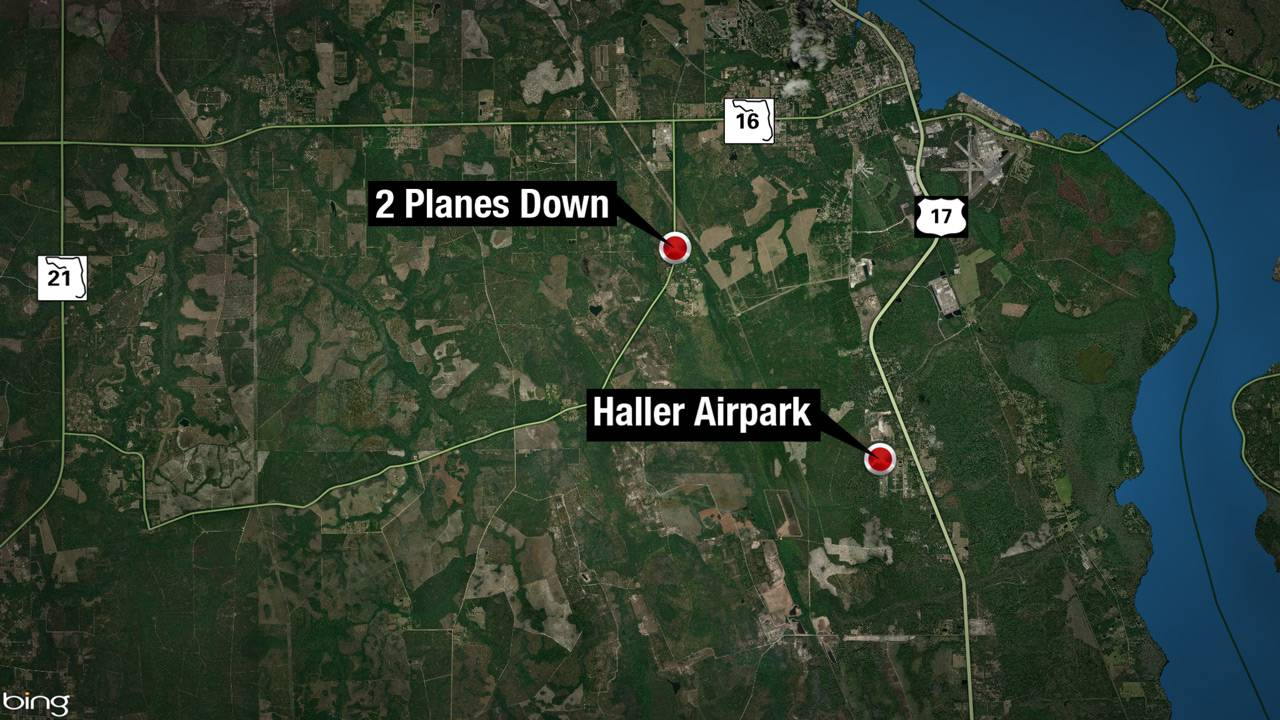 2 planes down in Clay County map