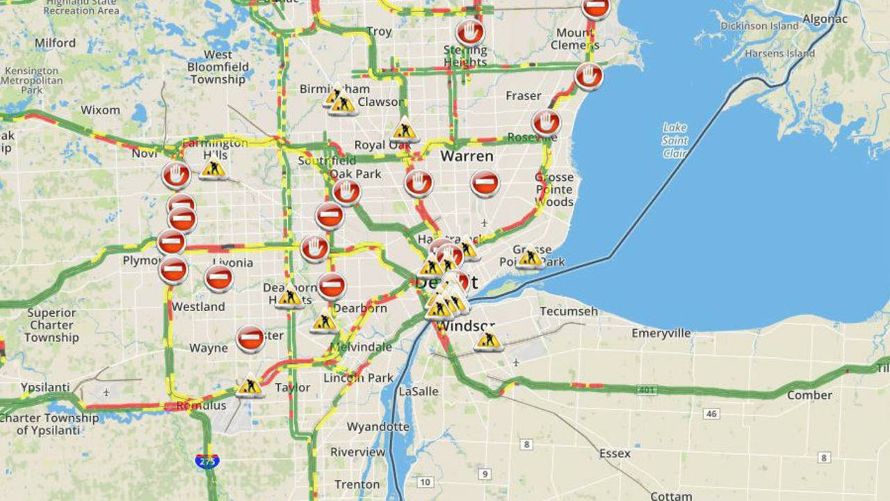 Metro Detroit Traffic Map.Check Metro Detroit Traffic Conditions And Live Map Right Here