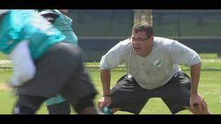 Dolphins motivated by fiery defensive line coach