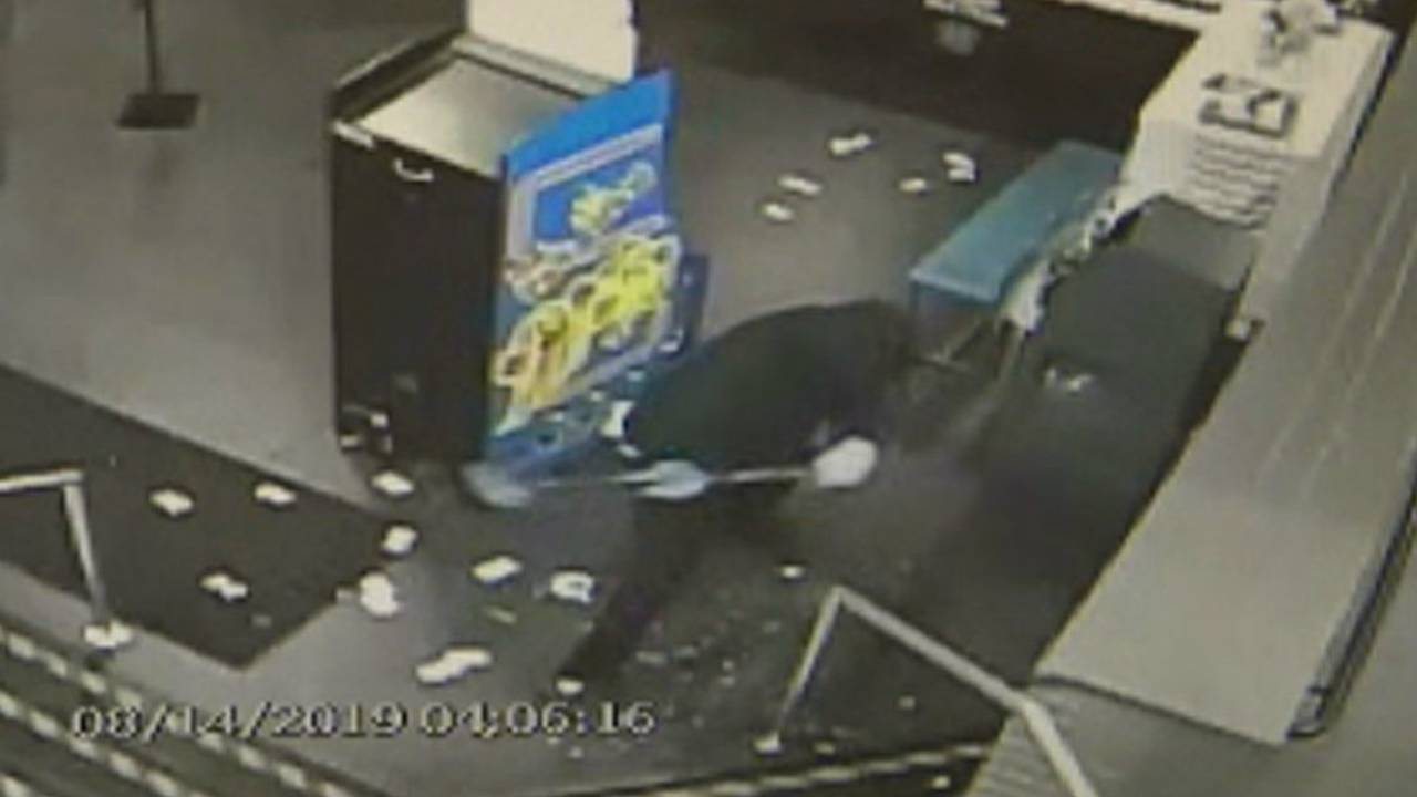 Utica Dave and Buster's suspect sledgehammer