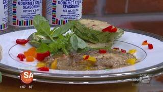 Get a taste of Native American cuisine with this poached striped bass recipe