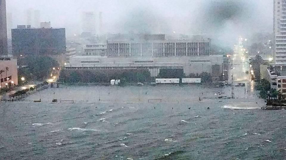 Hurricane Irma Downtown flooding