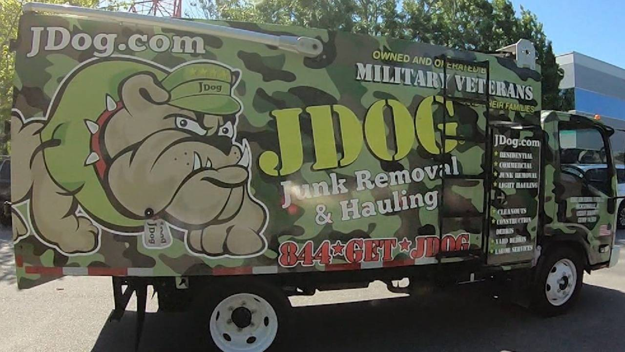 JDog Junk Removal and Hauling truck