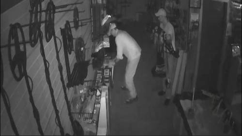 Thieves seen on camera stealing metal detector equipment from store in The Woodlands