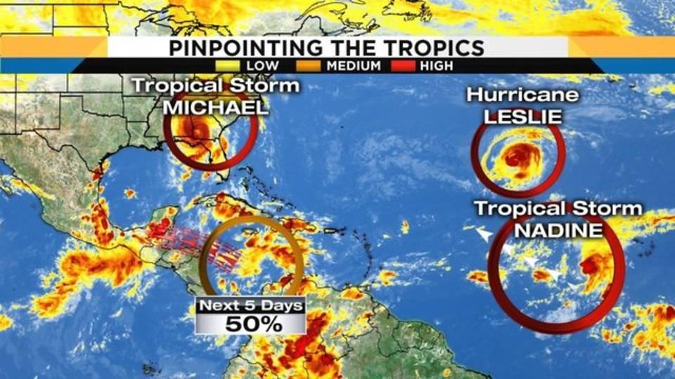 Tropics still active