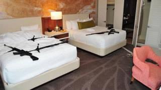 Photos show inside of Las Vegas shooters hotel room