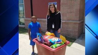 600 pounds of pet food collected by 6-year-old SA boy in two weeks for ACS
