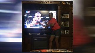 Kam Franklin's mom is every Rockets fan during Game 4