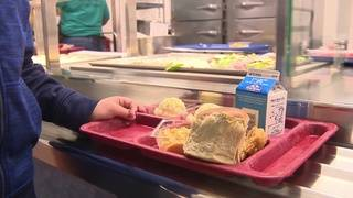 New law in action: Extra school food landing in kids' hands instead of trash