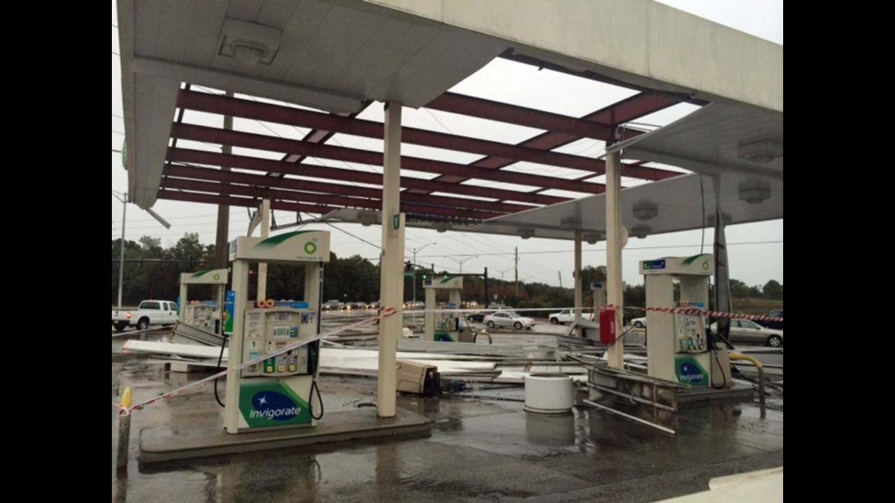 Storm Damaged Bp Gas Station Back In Business