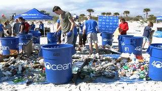 Hundreds cleanup Jacksonville Beach on Saturday
