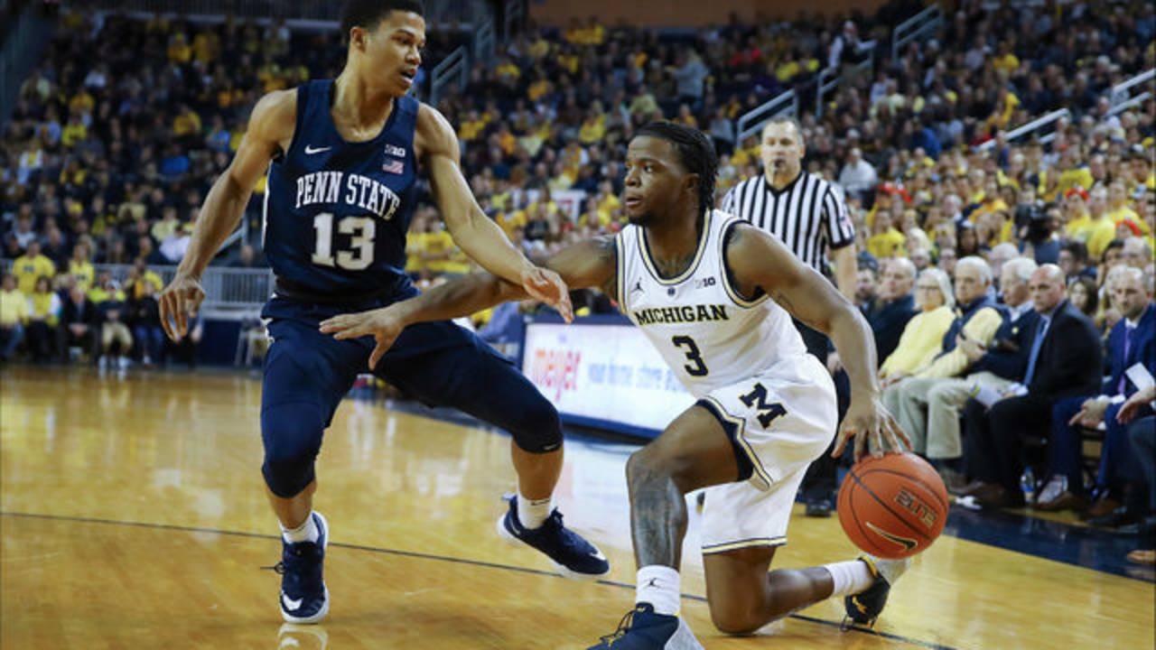 Zavier Simpson Michigan basketball vs Penn State 2019