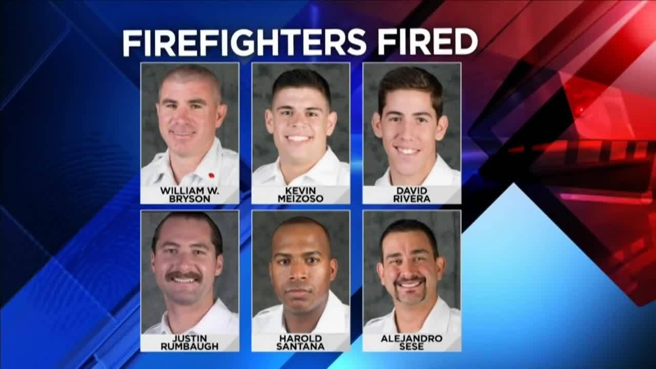 Capt. William W. Bryson, Lt. Alejandro Sese, David Rivera, Harold Santana, Justin Rumbaugh andKevin Meizoso