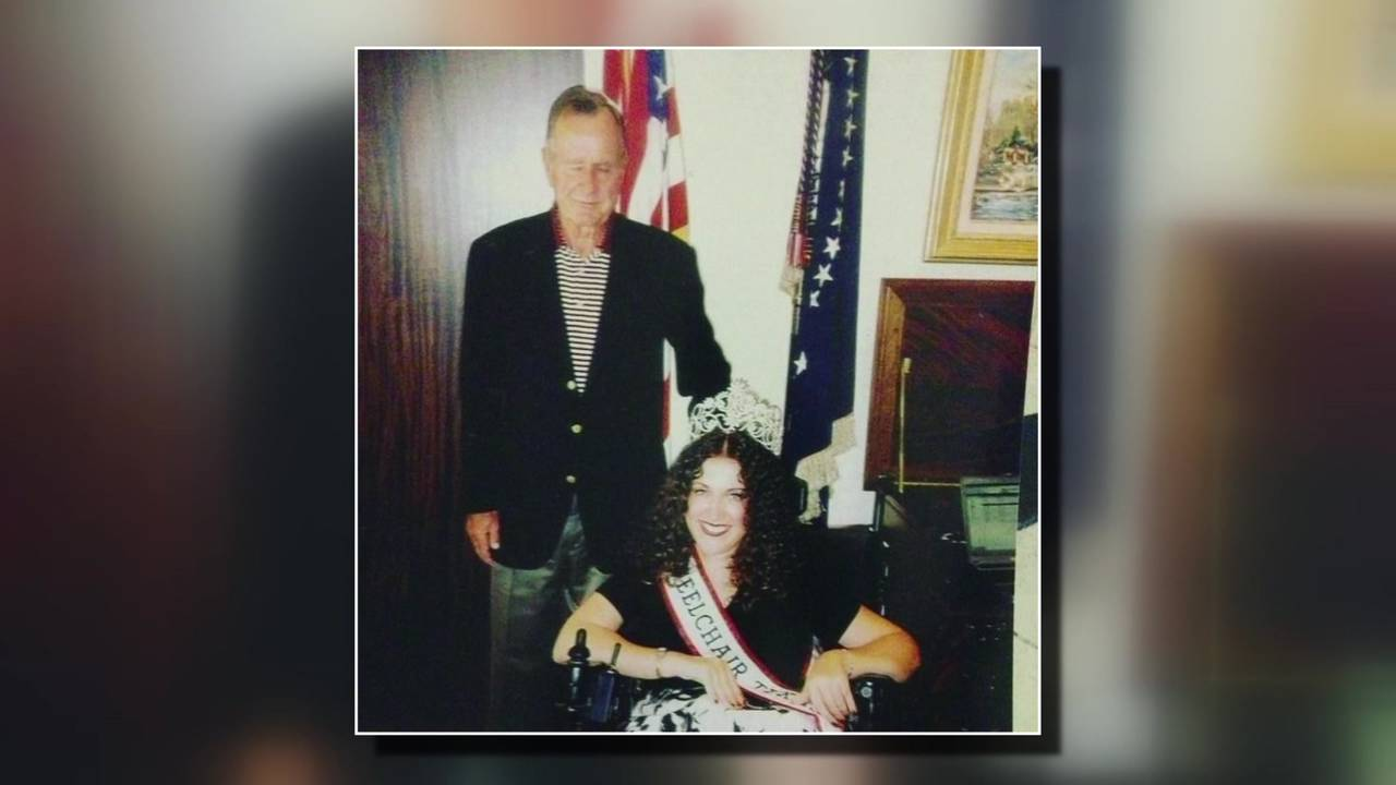 Angela Wriggleworth Titcombe and president hw bush