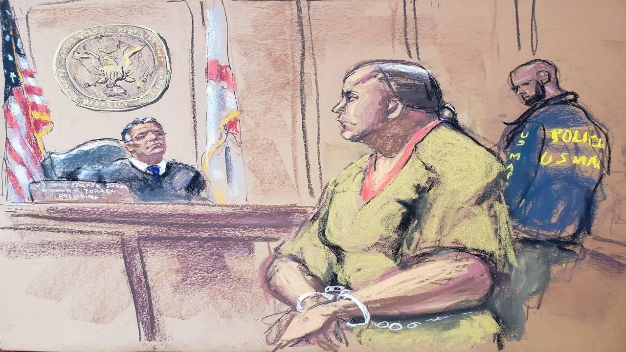 Cesar Sayoc in court Oct 29 pic 2