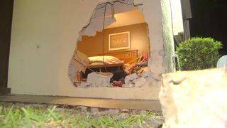 Sleeping Lauderhill woman gets jolt when car crashes into her bedroom