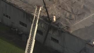 Firefighters battle blaze at west Houston warehouse