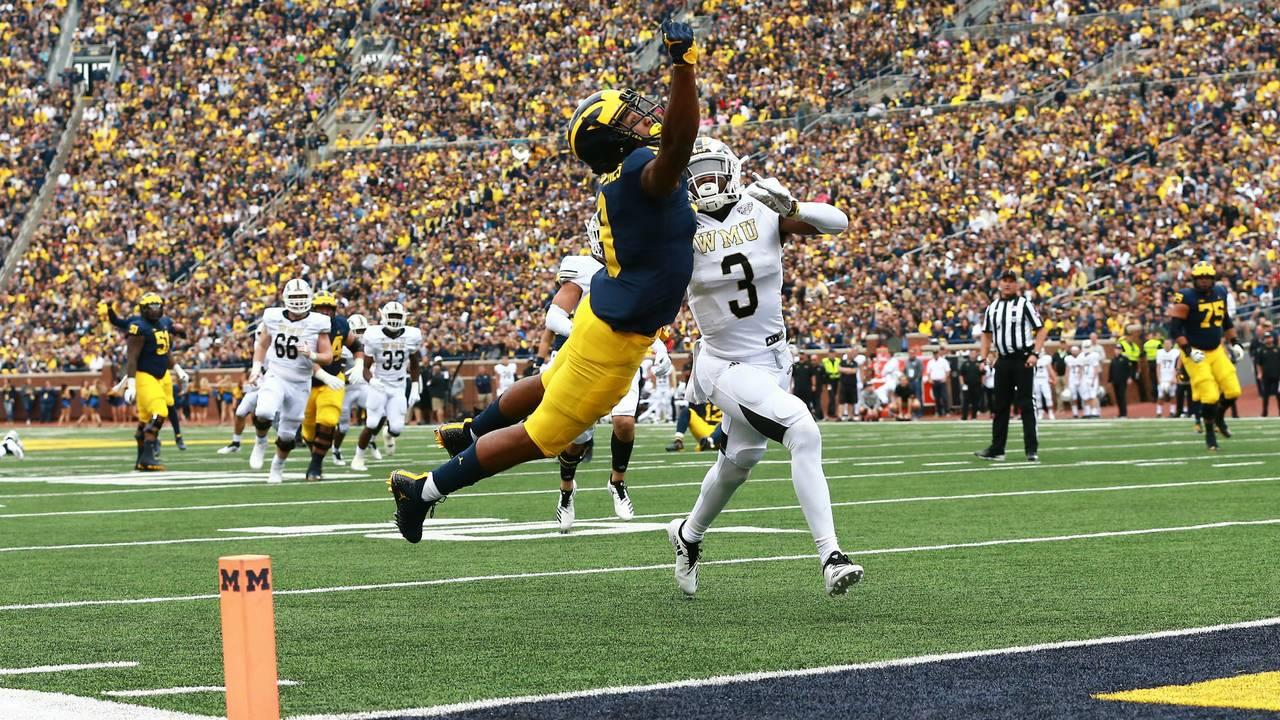Donovan Peoples-Jones Michigan football vs Western Michigan 2018