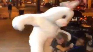 Hopping mad Easter Bunny gets into fight in downtown Orlando