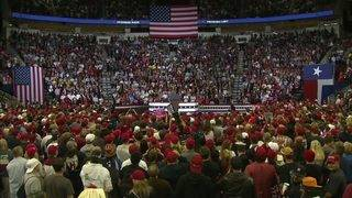 Thousands of President Trump supporters show up for Houston rally