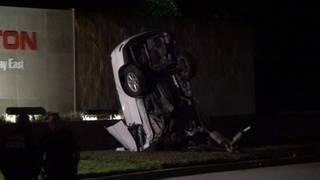 1 killed when SUV crashes into Halliburton sign in north Houston