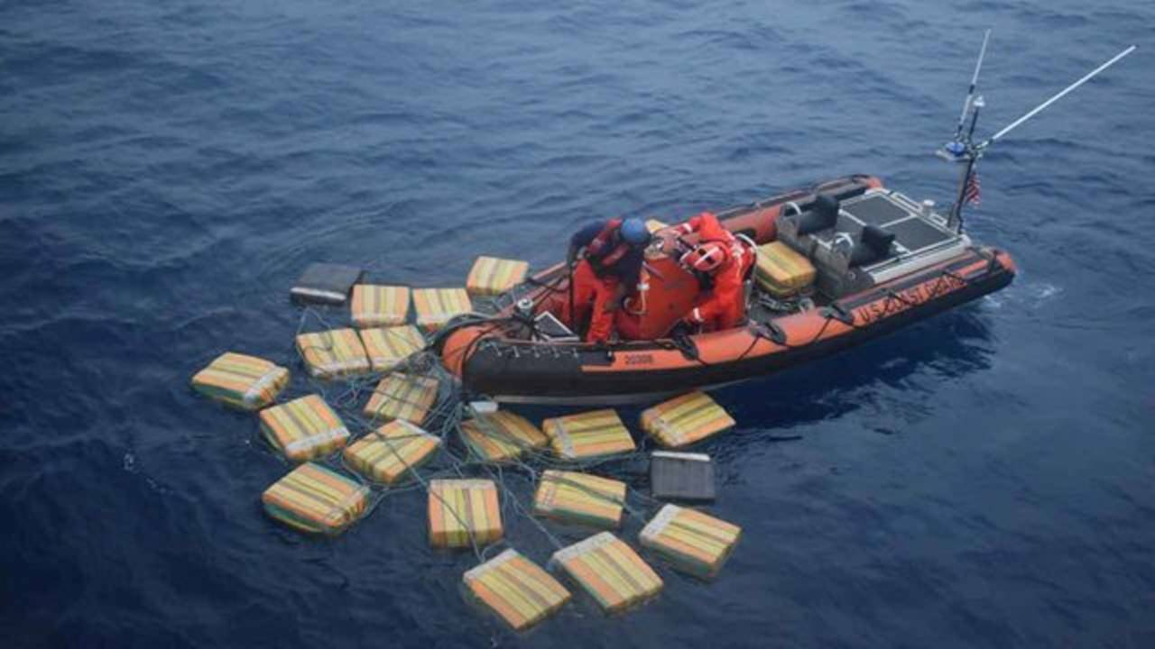 Bales of cocaine in water interdicted by Coast Guard