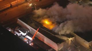 Hialeah warehouse burns for hours, destroying building