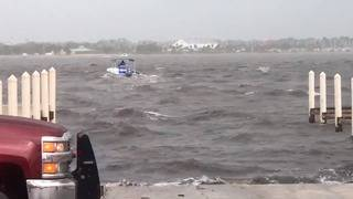 VIDEO: 11 people rescued after boat capsizes in Titusville