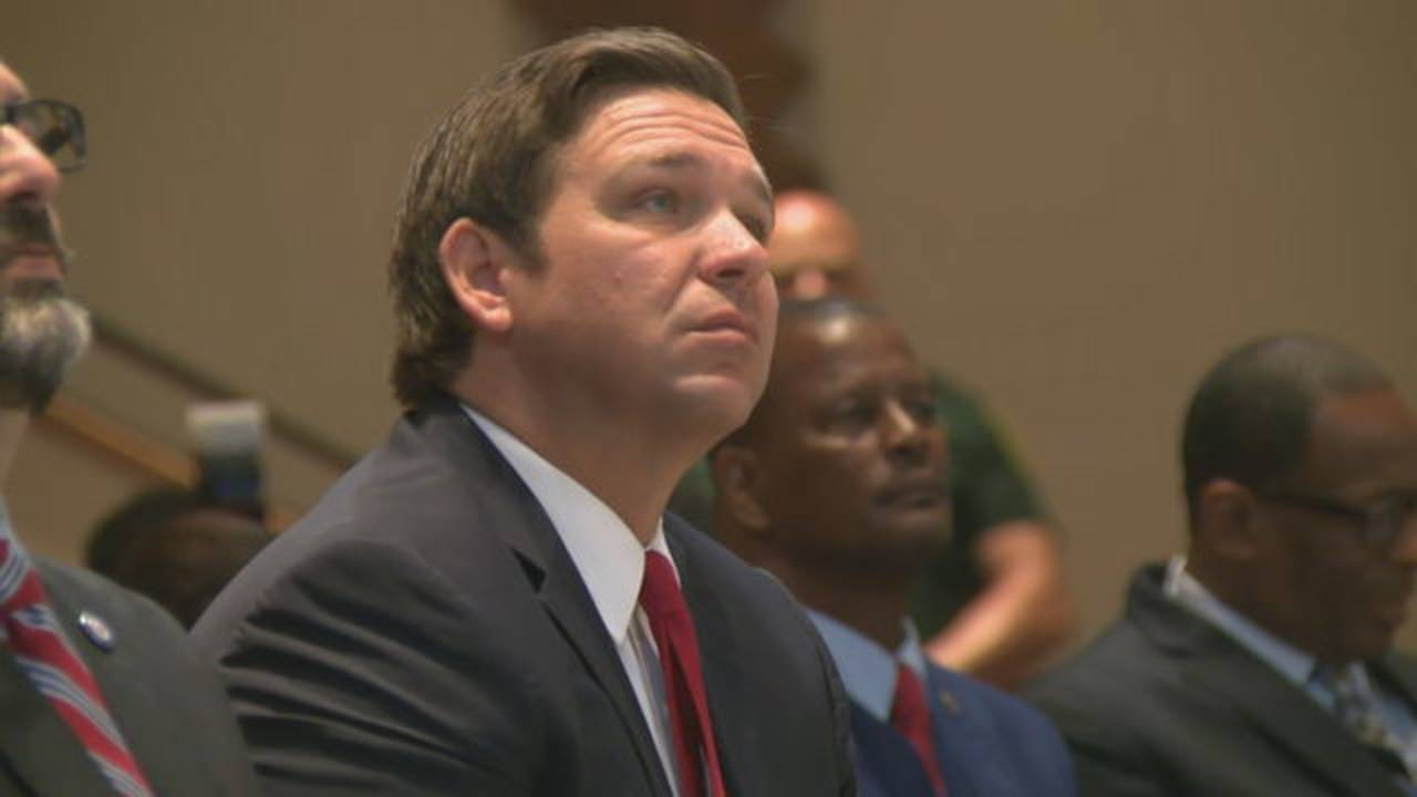 Gov. Ron DeSantis watches MLK Day celebration in Lauderdale Lakes