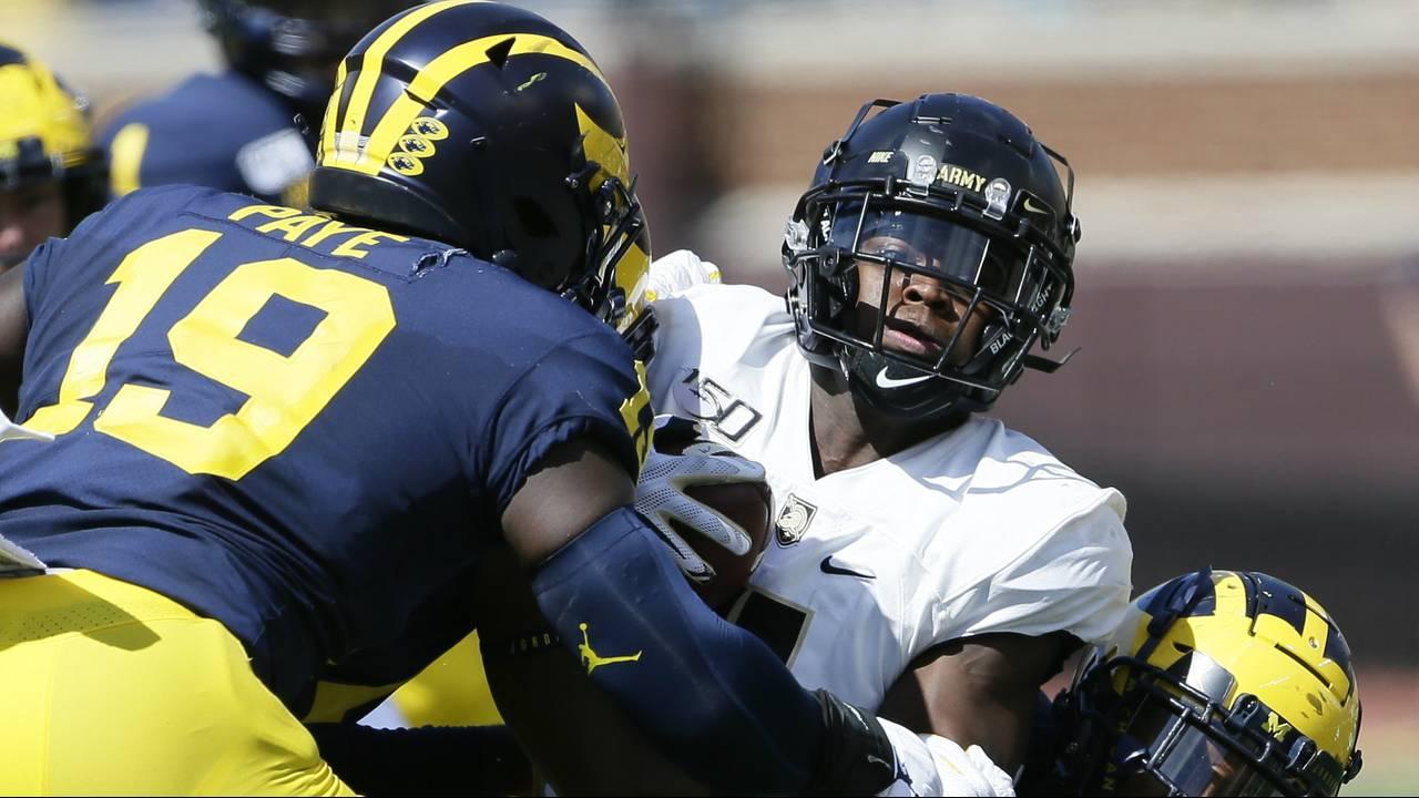 Kwity Paye tackle Michigan football vs Army 2019