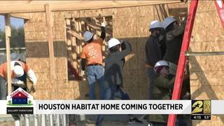 Houston Habitat Home coming together