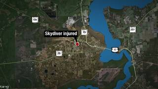 Skydiver survives when parachute doesn't fully open