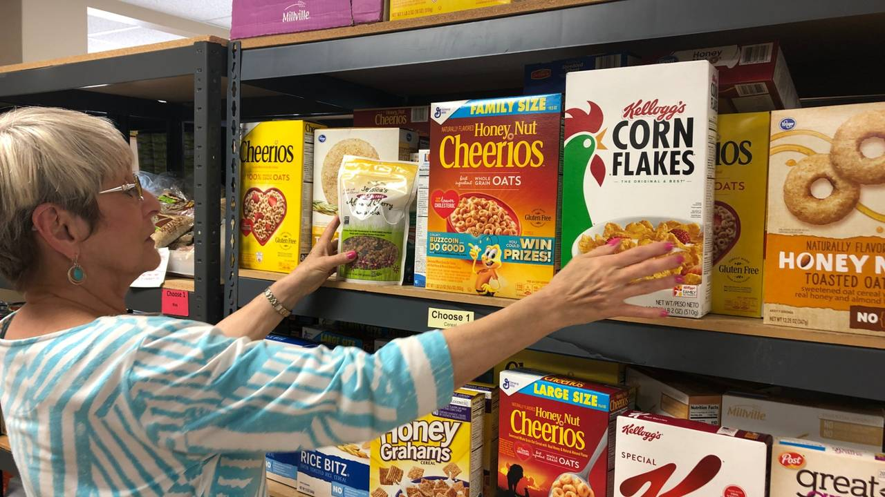 Cereal shelf at Hope Clinic