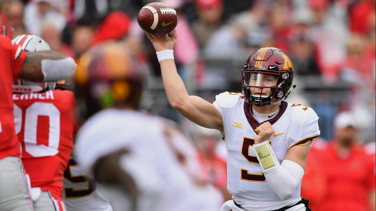 Zack Annexstad Minnesota football vs Ohio State 2018