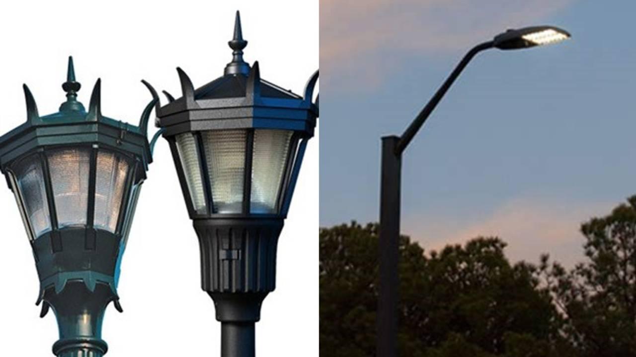 FDOT photos of types of lighting