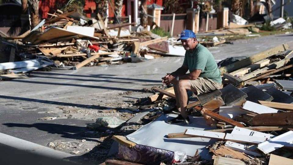 Hurricane Michael Man Finds Home Destroyed