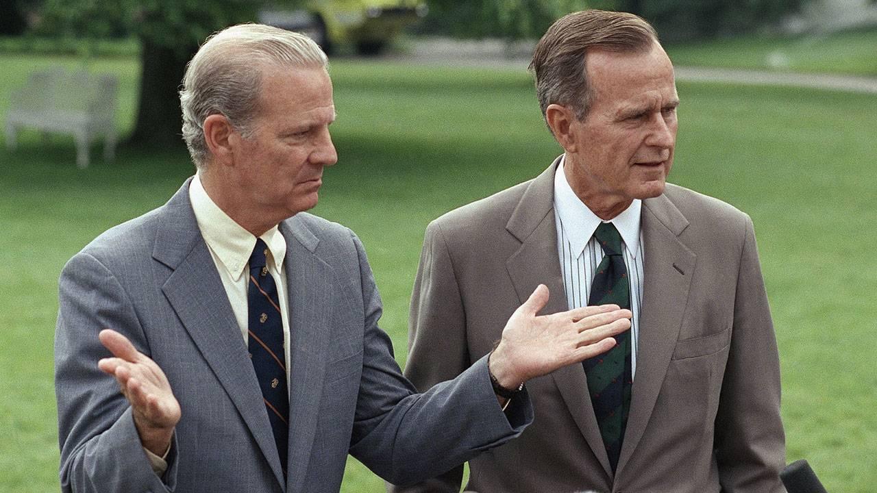 James Baker and President George H.W. Bush - AP Images - 1991
