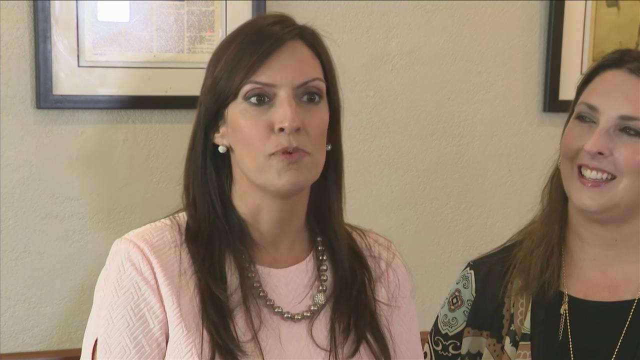 Lt. Gov. Jeanette Nunez speaks to reporters at Versailles Restaurant