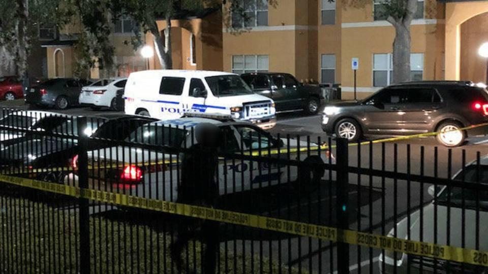 Commander Drive apartment complex shooting scene 2