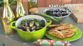 H-E-B Mussels with Chorizo and Cerveza