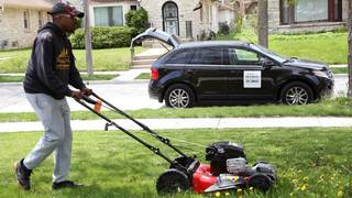 Man traveling to all 50 states to mow lawns