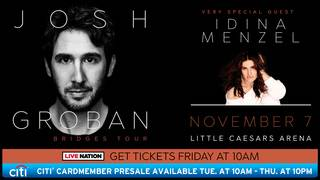 Win two tickets to see Josh Groban at Little Caesars Arena on Nov. 7