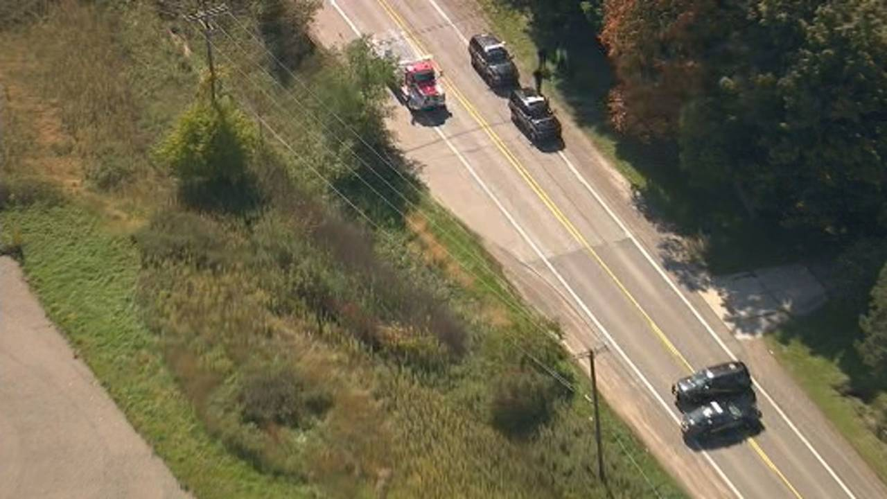 Scene of deer crash that killed Macomb County dispatcher