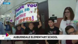 My Future My Choice distributes books at Auburndale Elementary School in Miami