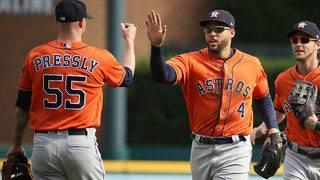 George Springer's catch, Alex Bregman's bat help Astros hold off Tigers 5-4