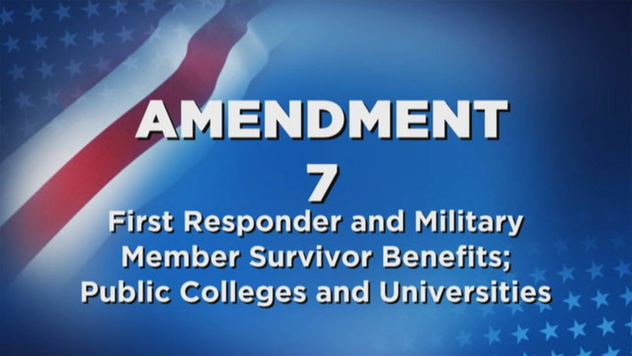 Amendment 7 First Responder and Military Member Survivor Benefits; Public Colleges and Universities